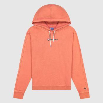 Champion Orange Hooded Sweatshirt Tops für Damen