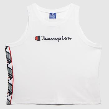 Champion White Oo Tank Top Womens Tops