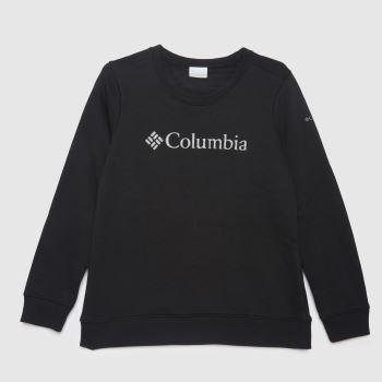Columbia  Black Logo Crew Womens Tops