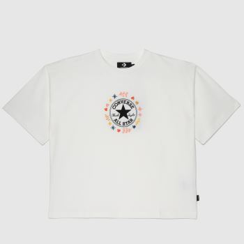 Converse White & Red Wander Boxy Tee Womens Tops