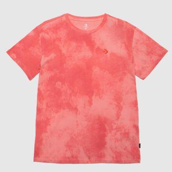 Converse Pink Sunwashed Logo T-shirt Womens Tops