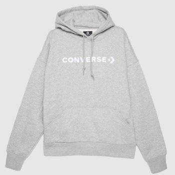 Converse Grey Oversized Hoodie Womens Tops