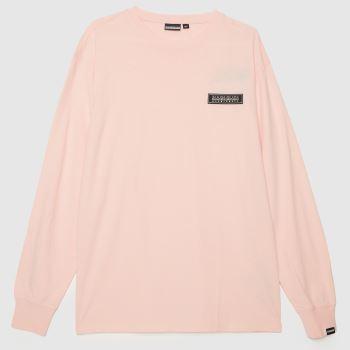 NAPAPIJRI Pink Patch Ls T-shirt Womens Tops