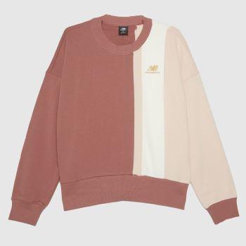 New balance Pink Athletics Higher Sweatshirt Tops für Damen
