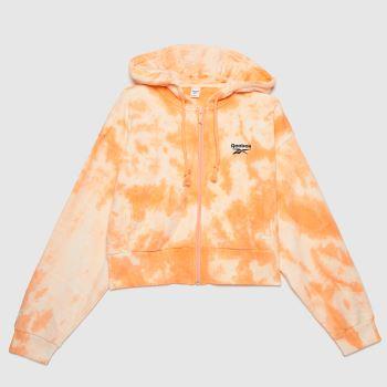 Reebok Peach Sr Cloud Dye Full Zip Womens Tops