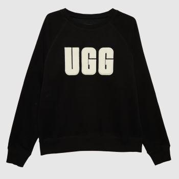 UGG Black Madeline Fuzzy Crewneck Womens Tops