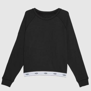 UGG Black & White Nena Sweatshirt Womens Tops