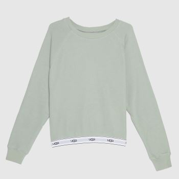 UGG Light Green Nena Sweatshirt Womens Bottoms