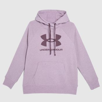 Under Armour Lilac Rival Logo Hoodie Womens Tops