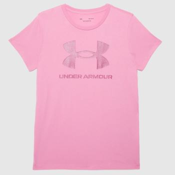 Under Armour Pale Pink Live Graphic Tee Womens Tops
