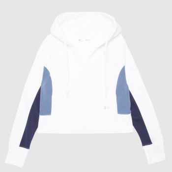 Under Armour White & Navy Rival Hoodie Womens Tops