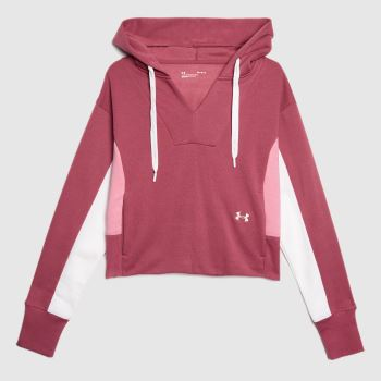 Under Armour Purple Rival Hoodie Womens Tops