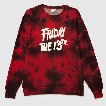 Vans Black & Red Horror Friday The 13th Cr Mens Tops