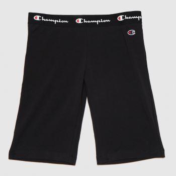 Champion Black & White Bike Shorts Womens Bottoms