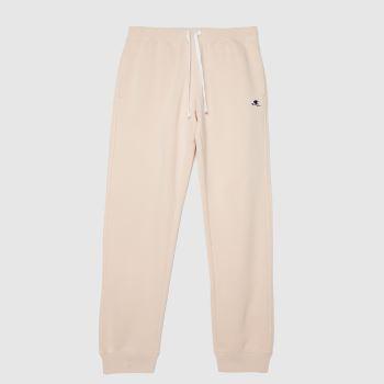 Champion Pale Pink Rib Cuff Pant Womens Bottoms