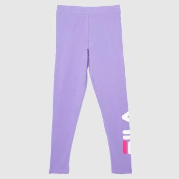 Fila Purple Avril Essential Legging Womens Bottoms