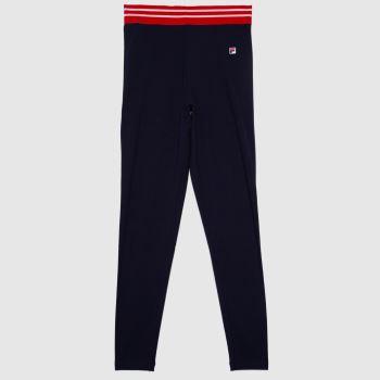 Fila Navy & Red Betina High Waist Legging Womens Bottoms