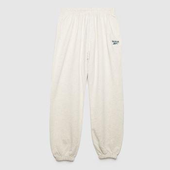 Reebok White Slim Logo Ft Pant Womens Bottoms