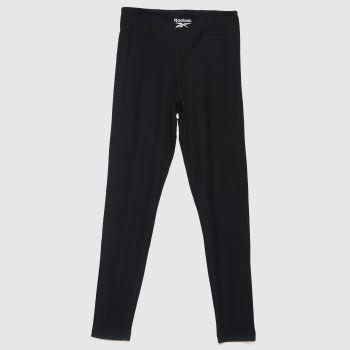 Reebok Black Wide Cozy Knit Legging Womens Bottoms