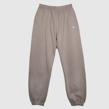 Reebok Grey Wide Cozy Fleece Pant Womens Bottoms
