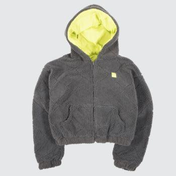 Fila Dark Grey Akta Rev Quilt Crop Womens Jackets