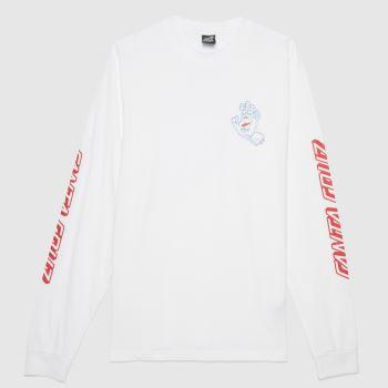 Santa Cruz White Void Hand L/s T-shirt Mens Tops