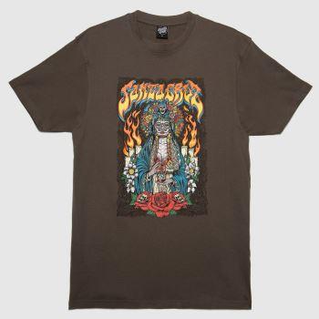 Santa Cruz Dark Grey Muerte T-shirt Mens Tops