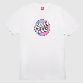 Santa Cruz White Scales Dot T-shirt Mens Tops