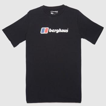 berghaus Black Organic Big Logo T-shirt Mens Tops