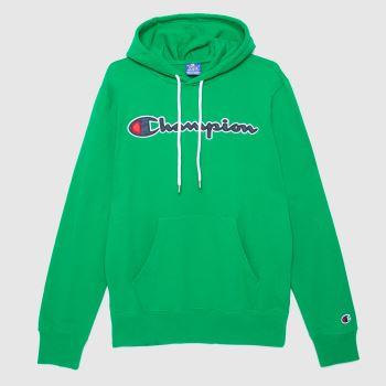Champion Green Hooded Sweatshirt Mens Tops