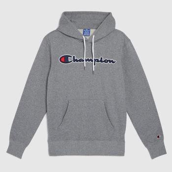 Champion Grey Hooded Sweatshirt Tops