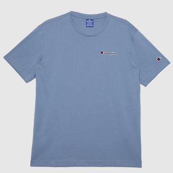 Champion Blue Crewneck T Shirt Mens Tops
