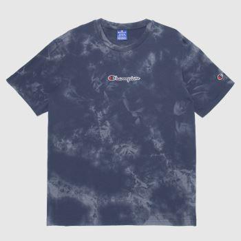 Champion Black & Grey Crewneck T-shirt Mens Tops
