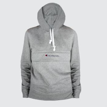 Champion Light Grey Half Zip Sweatshirt Mens Tops