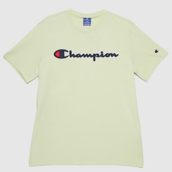 Champion Light Green Crewneck T-shirt Mens Tops
