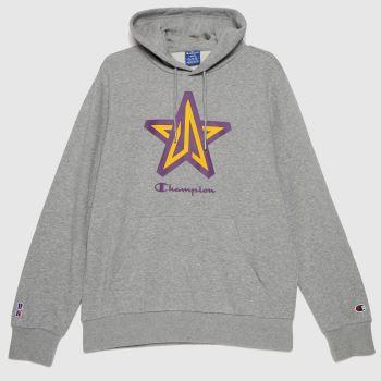 Champion Grey Oo Hooded Sweatshirt Nba Mens Tops