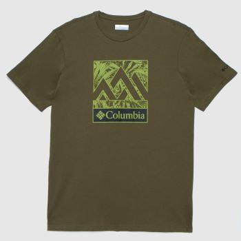 Columbia  Khaki Graphic T-shirt Mens Tops