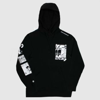 Converse Black Off Court Po Hoodie Mens Tops