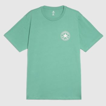 Converse Green Patch Short Sleeve Tee Mens Tops