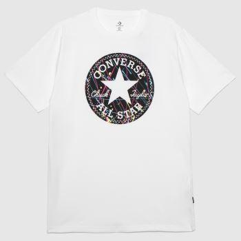 Converse White & Black Splatter Paint T-shirt Mens Tops