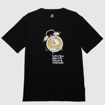 Converse Black Lifes Too Short T-shirt Mens Tops