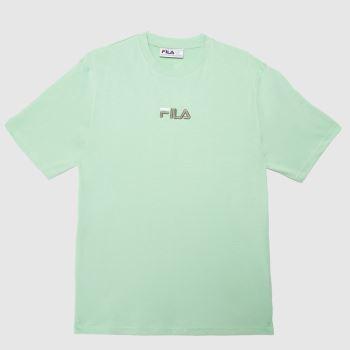 Fila Green Malik Log T-shirt Mens Tops