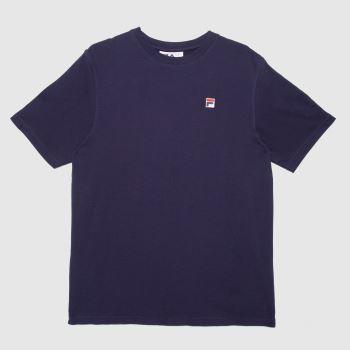 Fila Navy & Red Quartz Back Graphic T-shirt Mens Tops