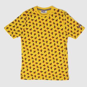 Fila Yellow Adam Tee Mens Tops