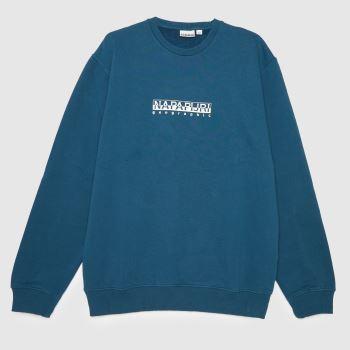 NAPAPIJRI Blue B-box Sweatshirt Mens Tops