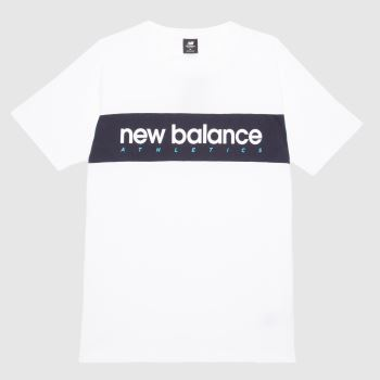 New balance White Athletics Linear Nb T-shirt Mens Tops