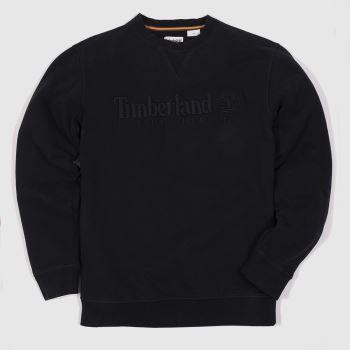 Timberland heritage crew neck sweat in black
