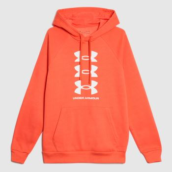 Under Armour Red Rival Hoodie Mens Tops