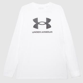 Under Armour White & Black Sportsyle T-shirt Mens Tops