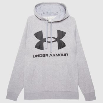Under Armour Grey Rival Hoodie Mens Tops